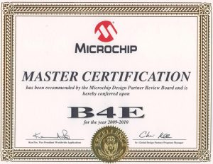 B4E est Microchip Design Partner