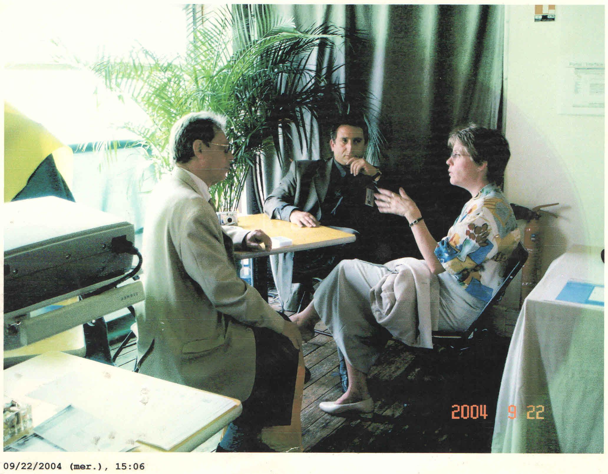 Joseph Irani et Martina Kost en discussion
