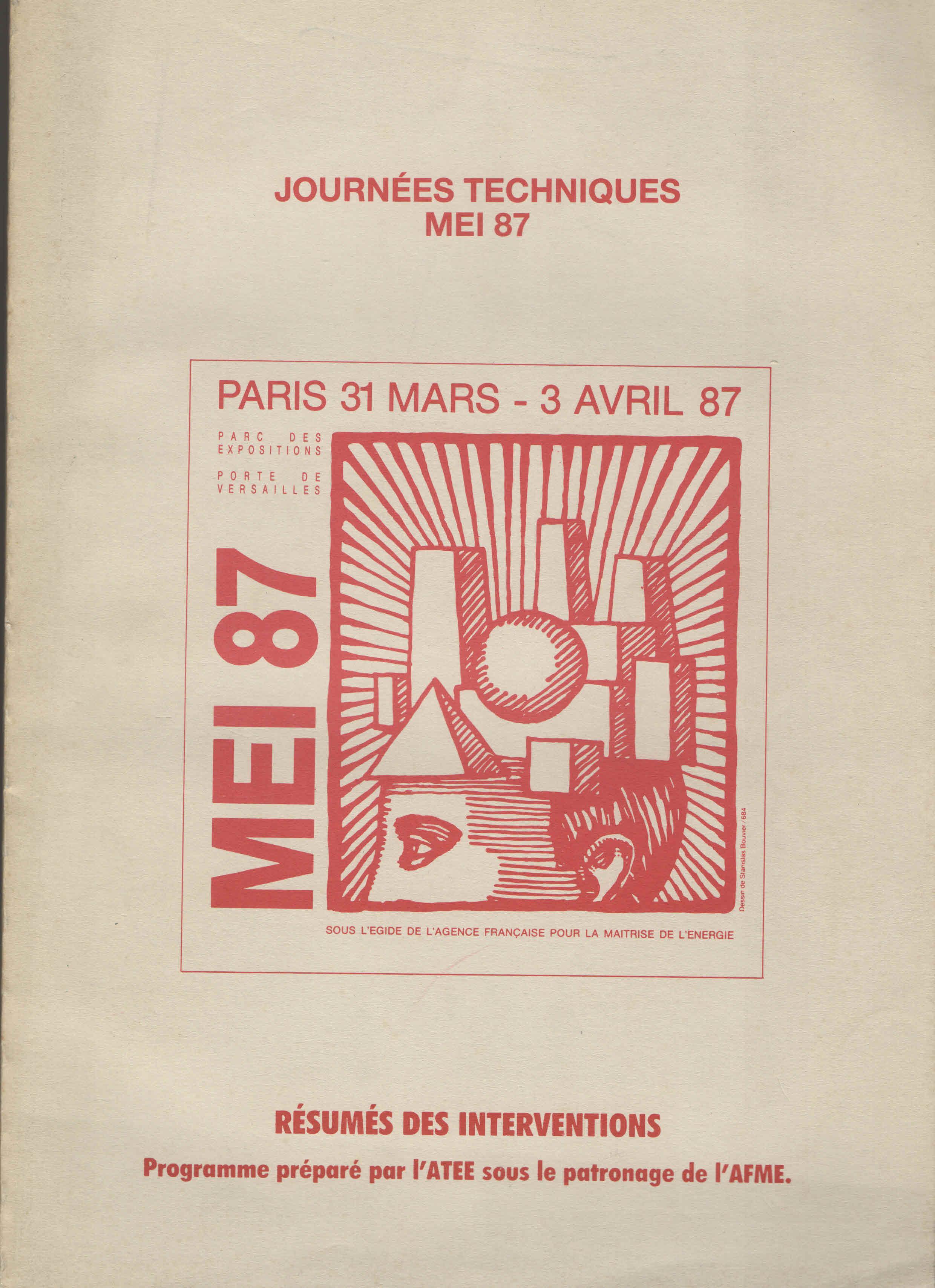 MEI 87 - Le salon de la Maîtrise de l'Enrgie dans l'Industrie