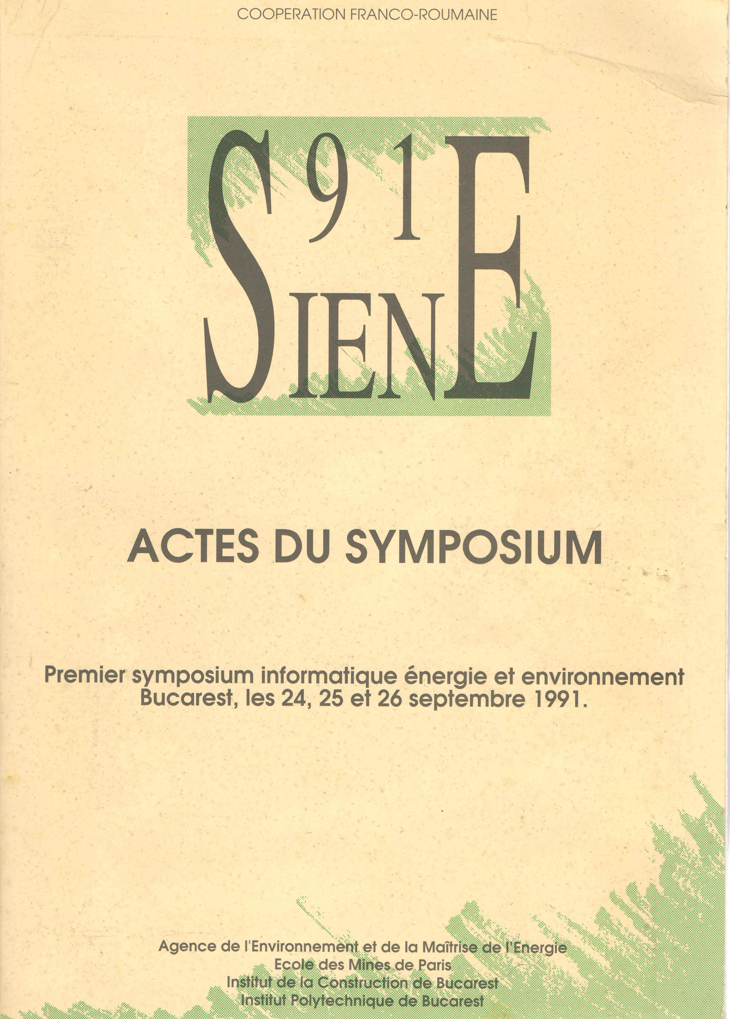 Symposium Franco Roumain SIENE 91
